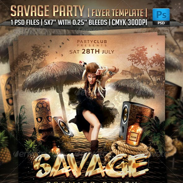 Savage Party Flyer Template