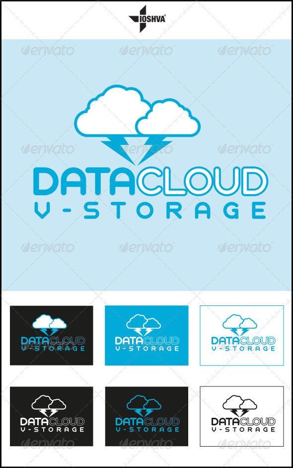 Data Cloud Virtual Storage Logo - Vector Abstract