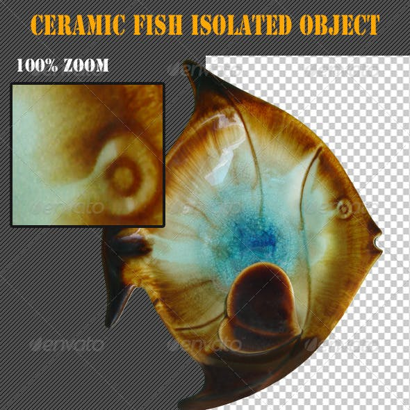 Ceramic Fish Isolated Object