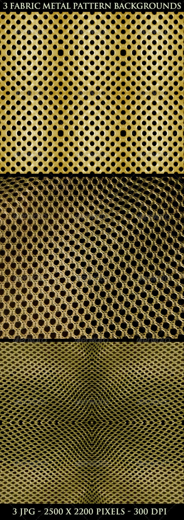 3 Fabric Metal Pattern Background