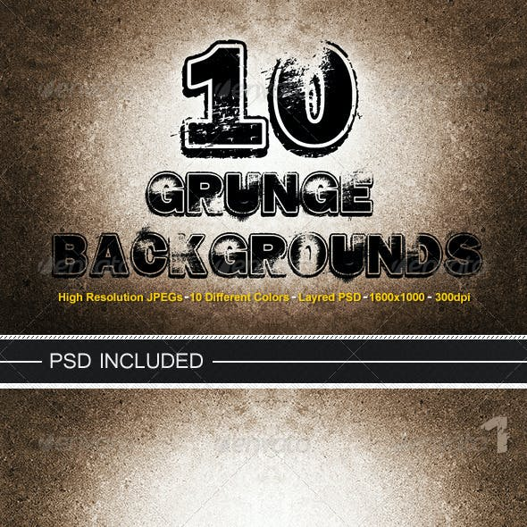 10 Grunge Backgrounds