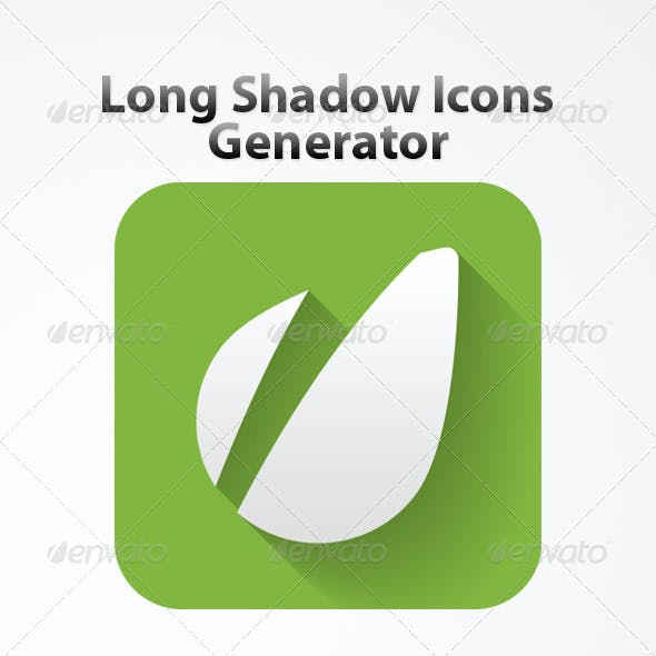 Long Shadow Icon Generator