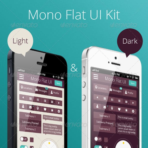 Mono Flat UI Kit