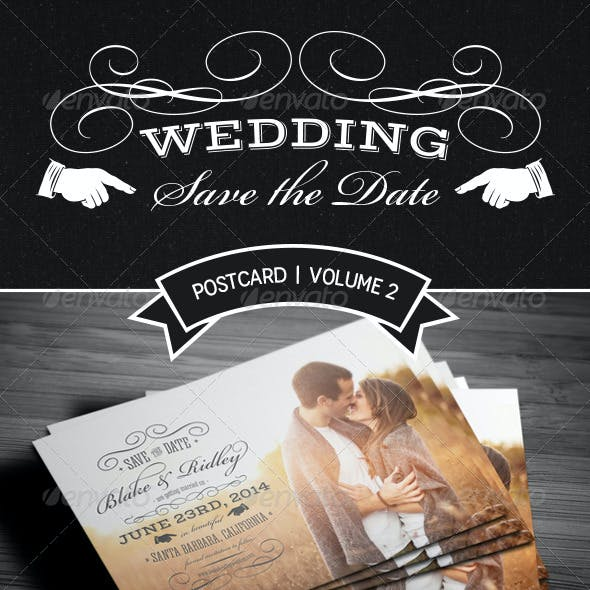 Save The Date Postcard | Volume 2
