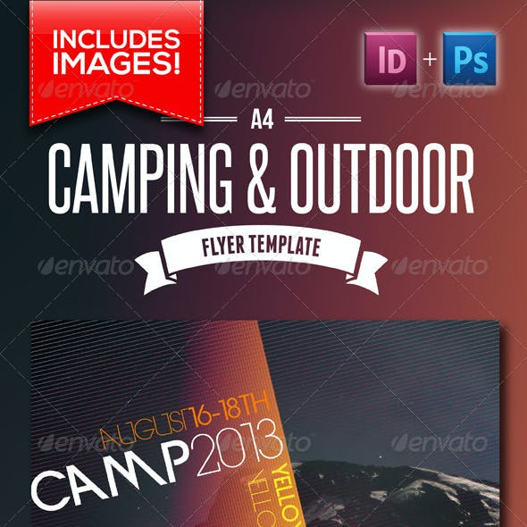 A4 Camping & Outdoor Flyer
