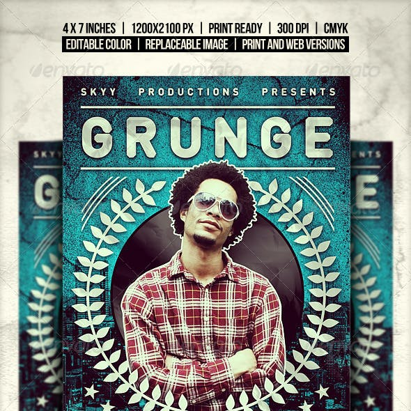 Grunge Flyer // Changeable color in 2 sizes