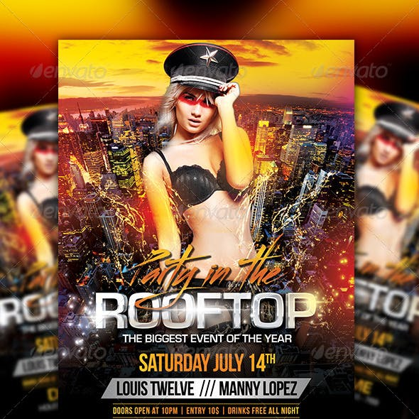 Party in the Rooftop | Flyer + Facebook Cover