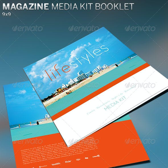 Magazine Media Kit Booklet Template