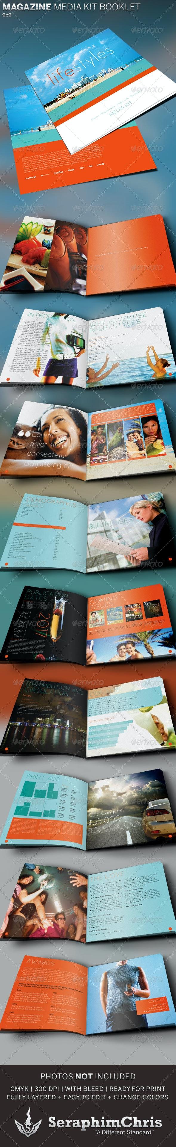 Magazine Media Kit Booklet Template - Corporate Brochures