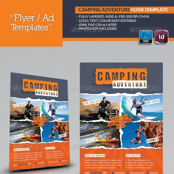 Camping Adventure Flyer Template
