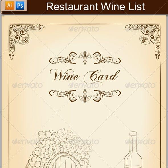 Vintage Wine List