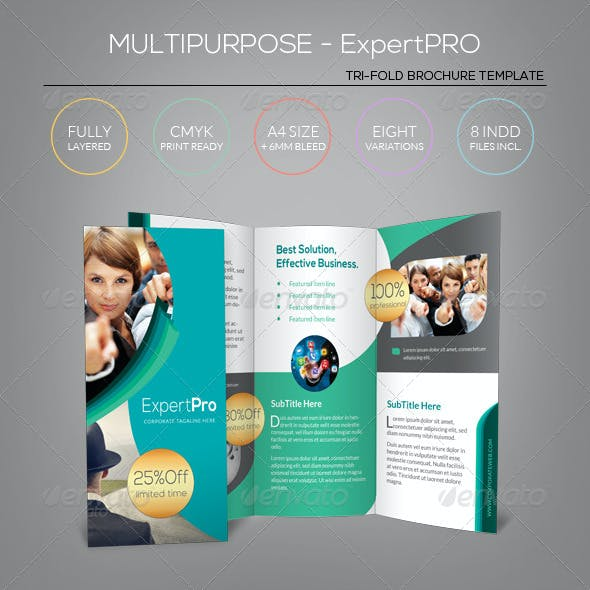 Multipurpose Tri-Fold Brochure - Expert Pro
