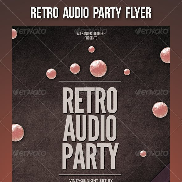Retro Audio Party Flyer