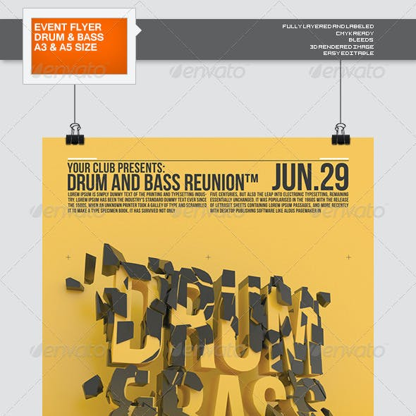Reunion: A Drum and Bass Flyer/Poster