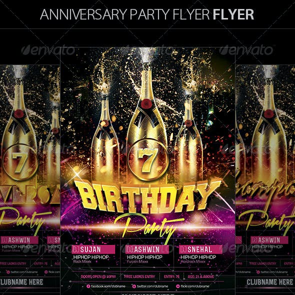 Birthday/Anniversary Party Flyer