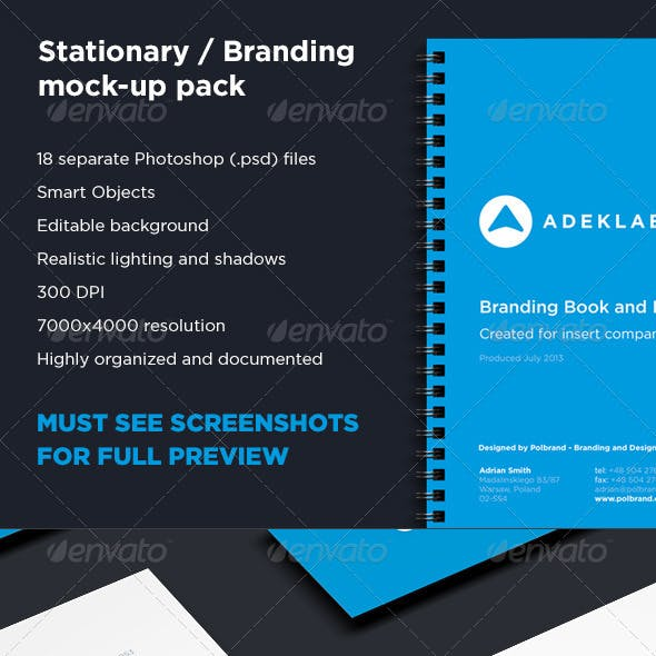Branding and Stationary Mock-up Collection Pack