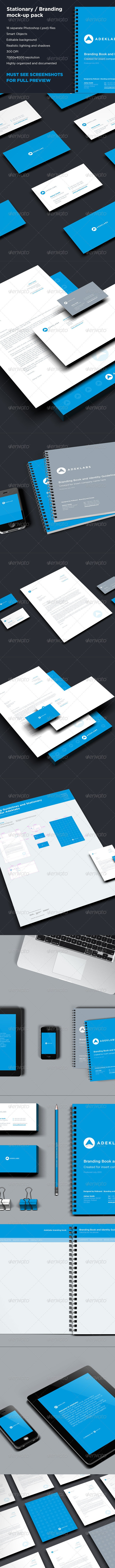 Branding and Stationary Mock-up Collection Pack - Stationery Print