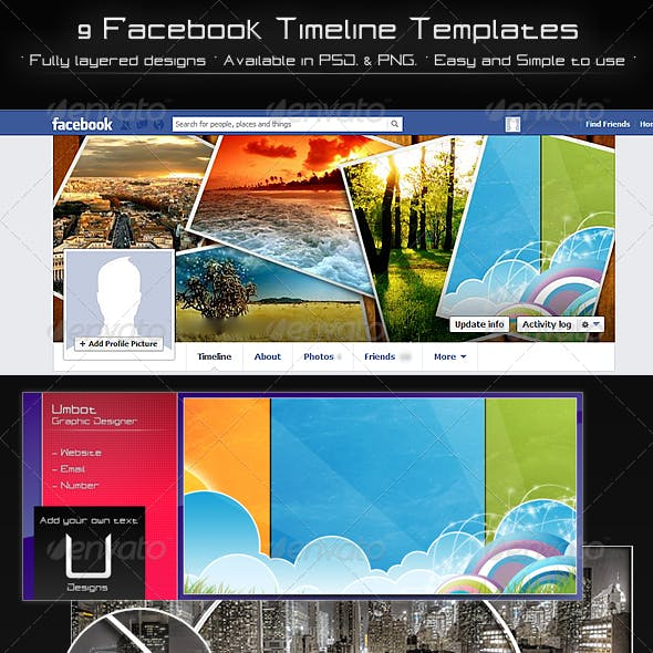 9 Facebook Timeline Templates