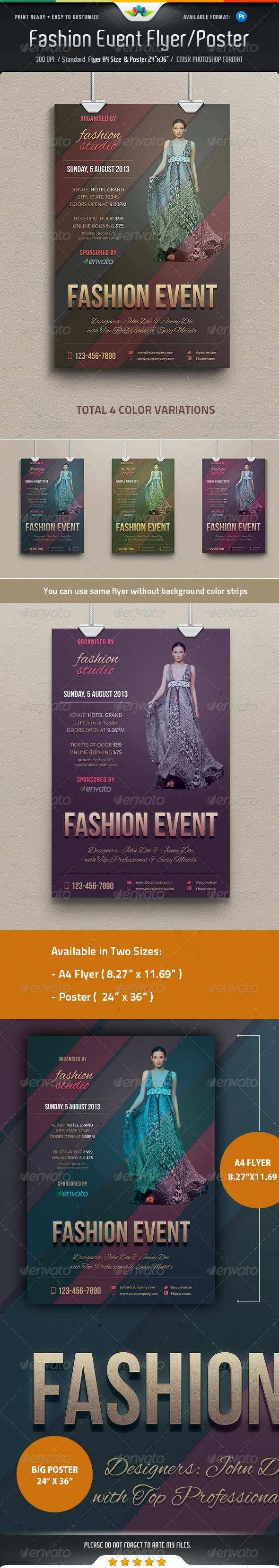 Fashion Event Flyer / Poster - Events Flyers