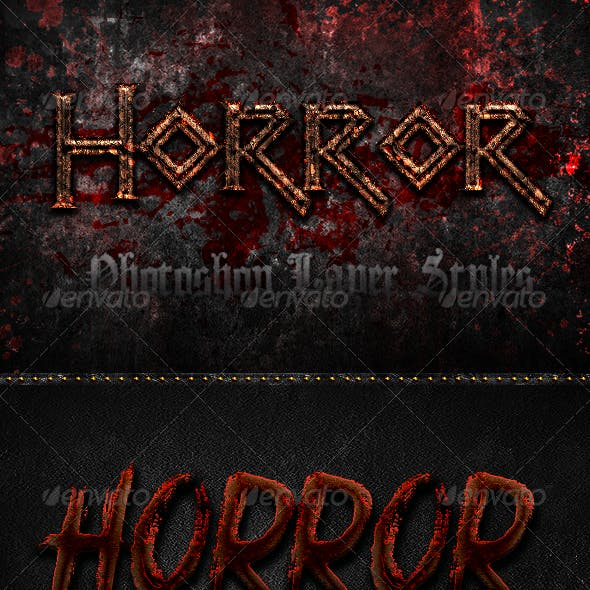 Horror Photoshop Layer Styles