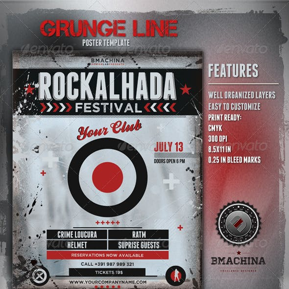 Rockalhada - Grunge Poster Template