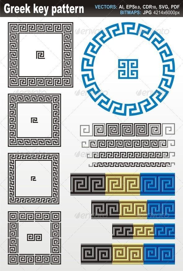 Greek Key Pattern - Borders Decorative