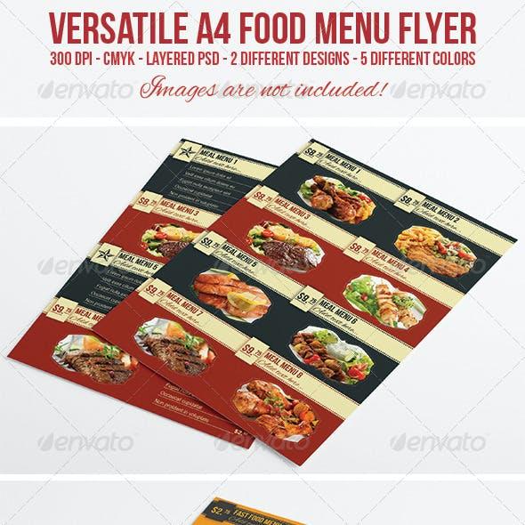 A4 Food Menu / Flyer