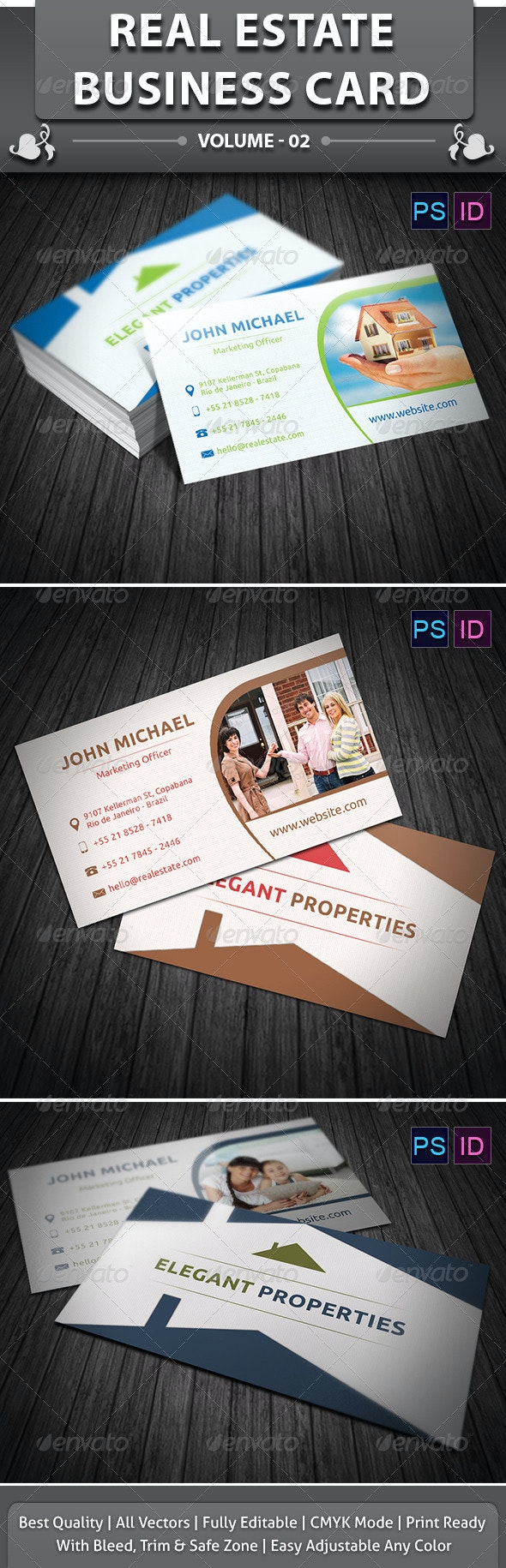 Real Estate Business Card v2 - Corporate Business Cards
