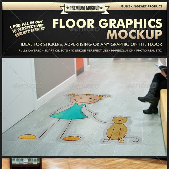 Floor Graphics Mockup - Premium Kit