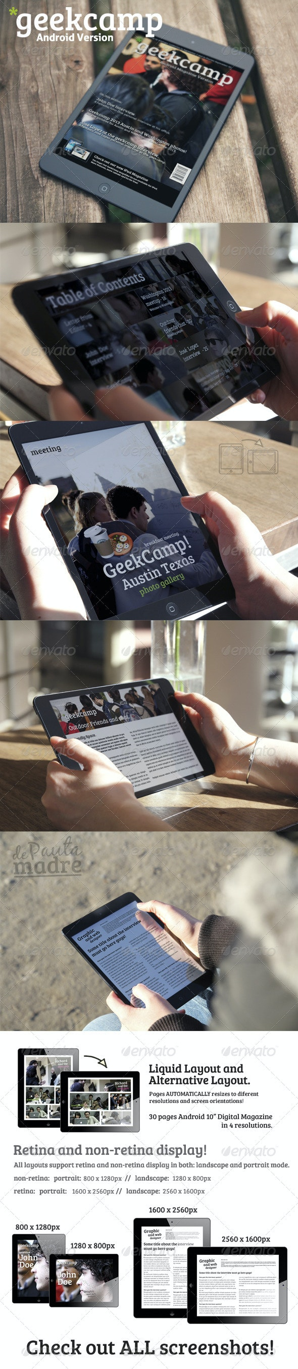 "Geek Android 10"" Digital Magazine Template"