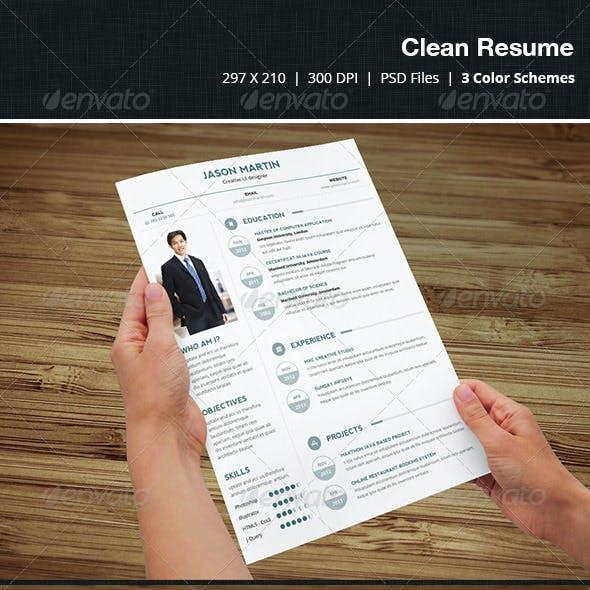 Clean & Creative Resume - 04