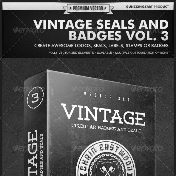 Vintage Seals and Badges Vol. 3