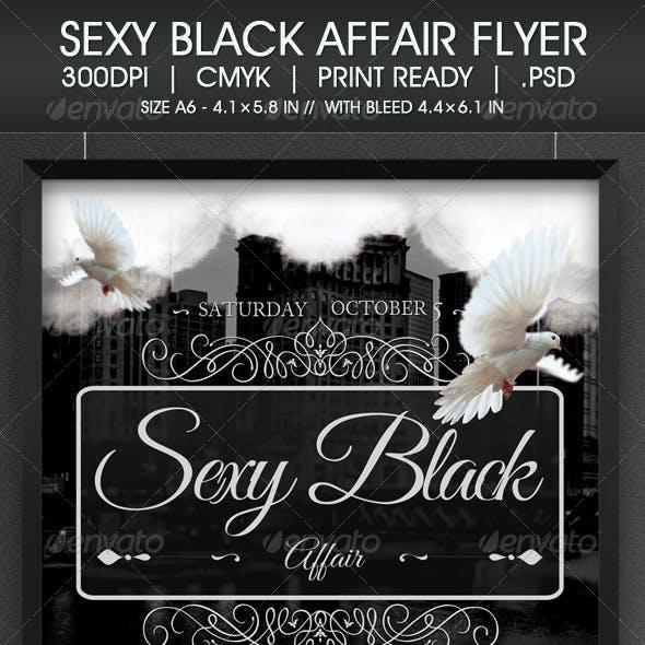Sexy Black Affair Flyer