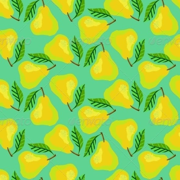 Pattern with Pears and Leafs
