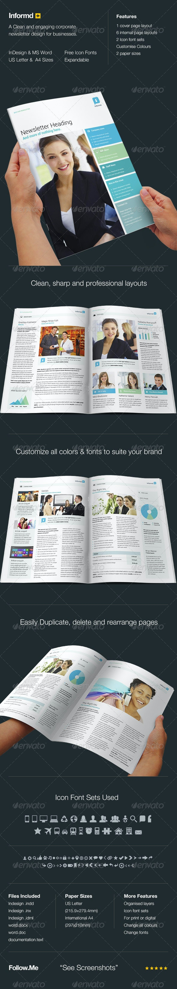 Informd - Newsletter Template - Newsletters Print Templates