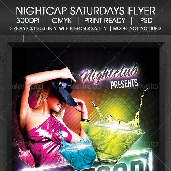 Nightcap Saturdays Flyer