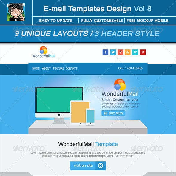 WonderfulMail Email Template Design Vol 8