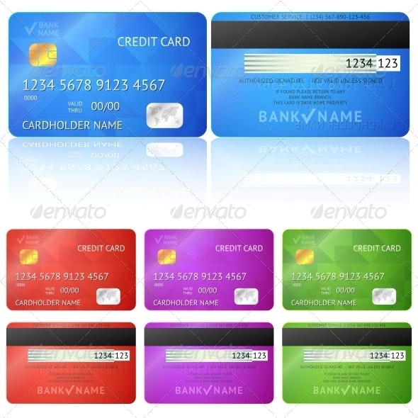 Credit Card Two Sides - Retail Commercial / Shopping