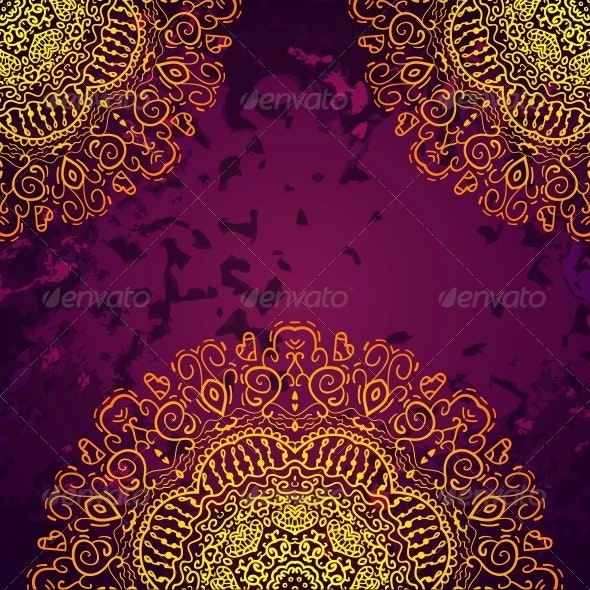 Vintage Antique Golden Ornament Background