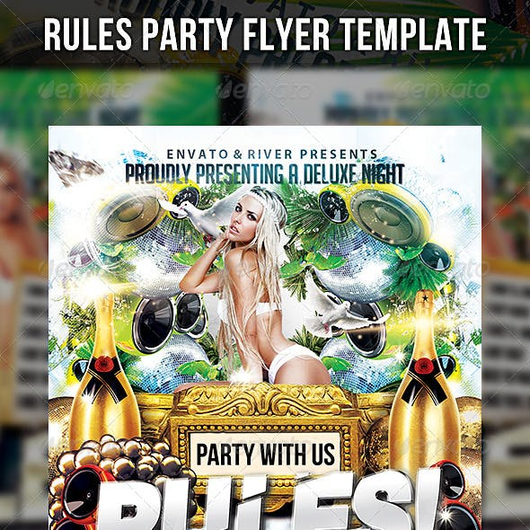 Rules Party Flyer Template