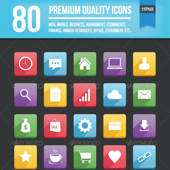 80 Vector Icons