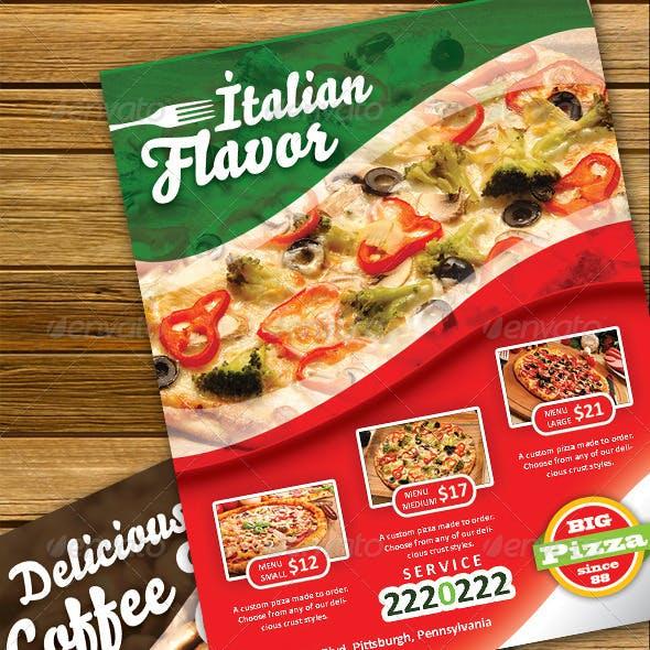 Flavor Pizza Flyer