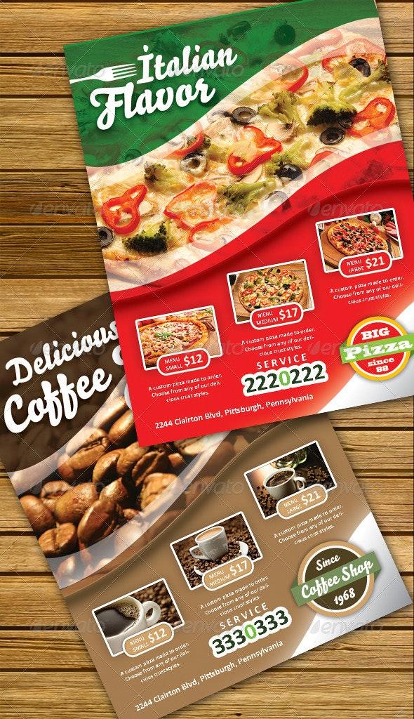 Flavor Pizza Flyer - Restaurant Flyers