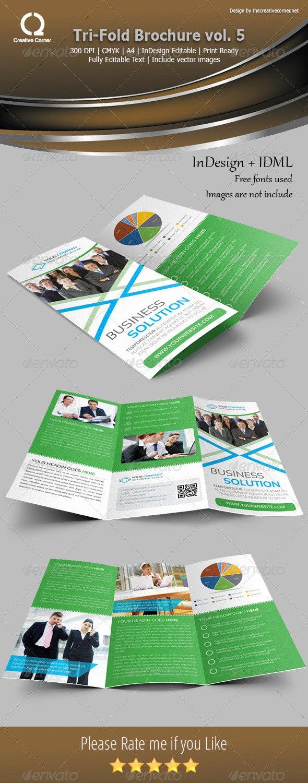 Multipurpose Tri-Fold Brochure Template Vol-05 - Corporate Brochures