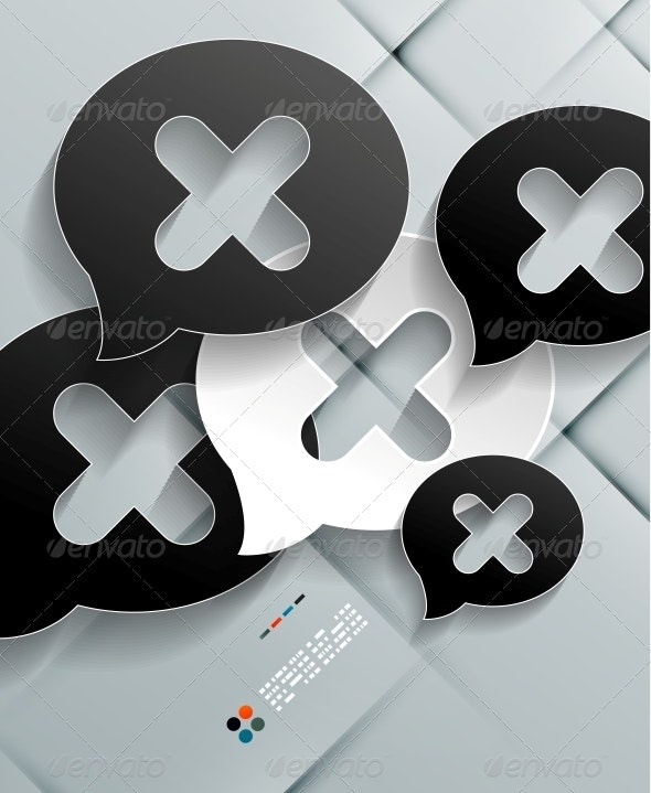 Paper Cloud Modern Vector Design