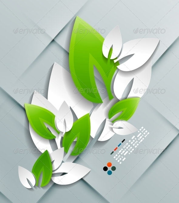 Vector Paper Leaves Modern Design