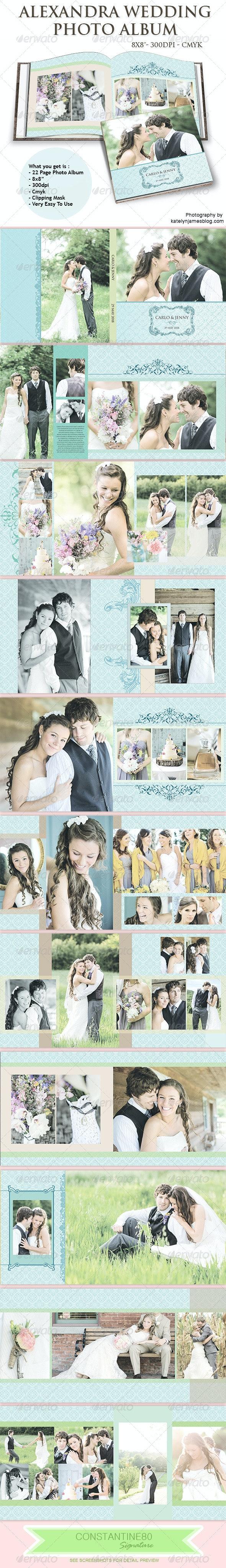 Alexandra Wedding Photo Album - Photo Albums Print Templates