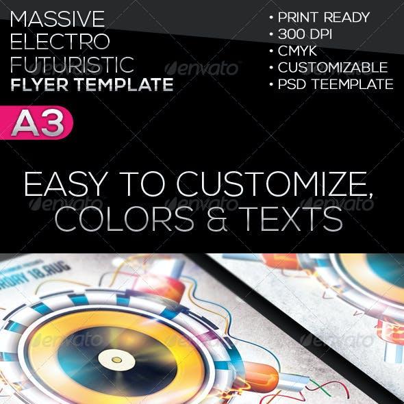 Massive | Futuristic | Electro Flyer Template