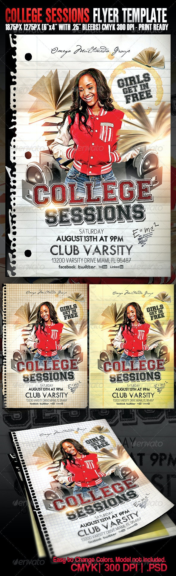 College Sessions  - Events Flyers