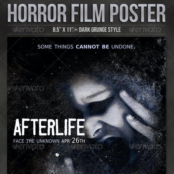 Afterlife Grunge Style Horror Film Poster